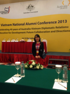 Minh at the Vietnam National Alumni Conference 2013