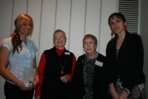 Scholarship winners with GWV members: Megan Kruger, June Stewart, Jenny Strauss, Julija Knezevic